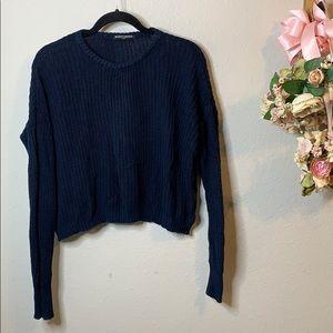 Brandy Melville One Size Crop Crew Sweater